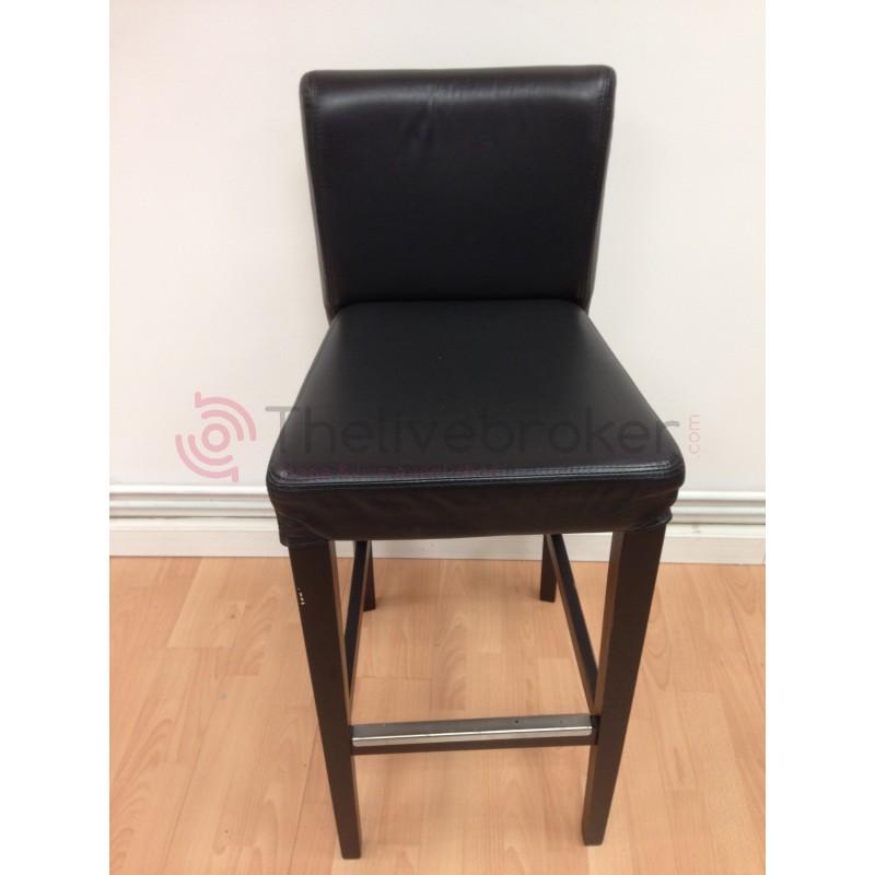 Tabouret cuir noir vente occasion - Vente mobilier occasion ...