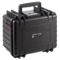 B&W 2000 SI - Valise plastique Outdoor Cases avec intérieur en mousse