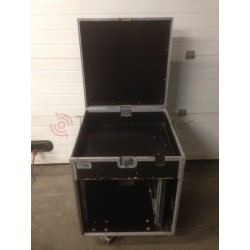"Flight case 19"" 10U Open Road avec compartiment pour cablage - Rythmes&Sons - Vente occasion"