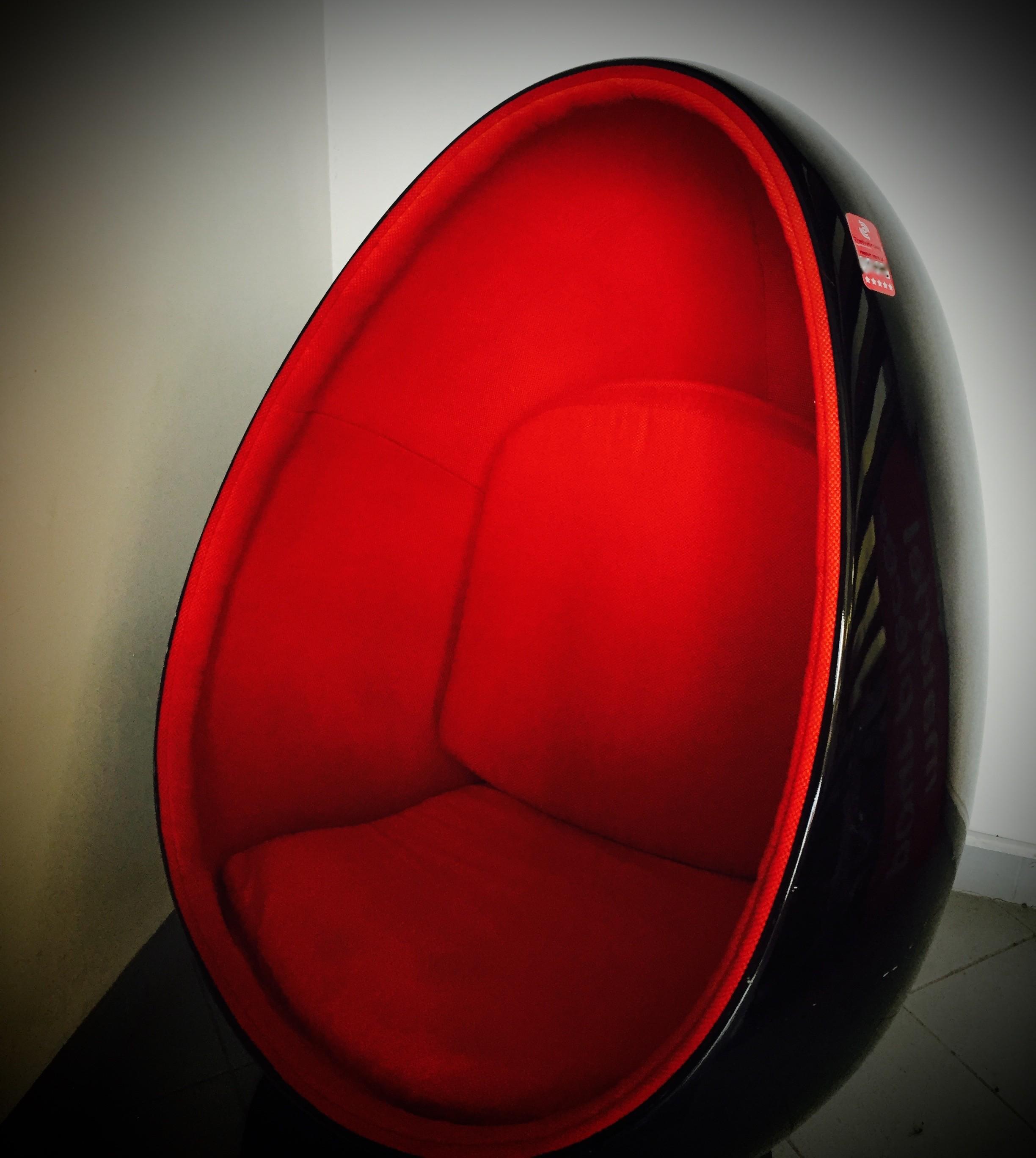 Fauteuil Vente Occasion Chair Design Rouge Et Noir Egg Oeuf Pk0nwO