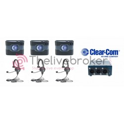 CLEAR-COM INTERCOM FILAIRE - PACK 1