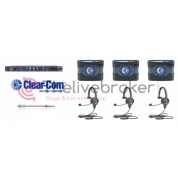 CLEAR-COM INTERCOM FILAIRE - PACK 2